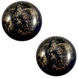Polaris cabochon 12mm classic stardust jet black