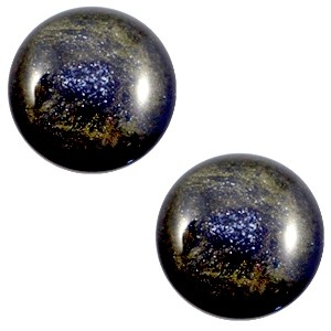 Polaris cabochon 12mm classic stardust midnight blue