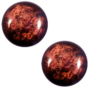 Polaris cabochon 12mm classic stardust port royale red