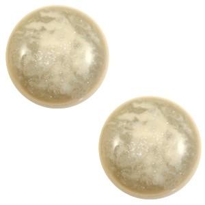 Polaris cabochon 12mm classic stardust sand beige