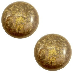 Polaris cabochon 12mm classic stardust warm taupe brown