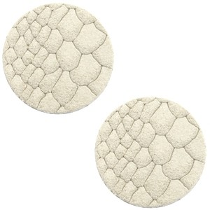 Polaris cabochon 12mm DQ leer off white