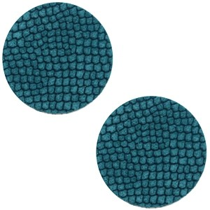 Polaris cabochon 12mm DQ leer porcelain blue