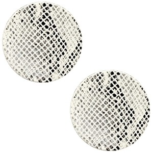Polaris cabochon 12mm DQ leer snake white