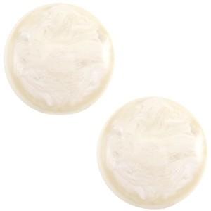 Polaris cabochon 12mm jais afterglow beige