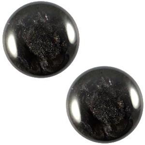 Polaris cabochon 12mm jais black