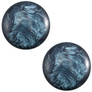 Polaris cabochon 12mm jais denim blue