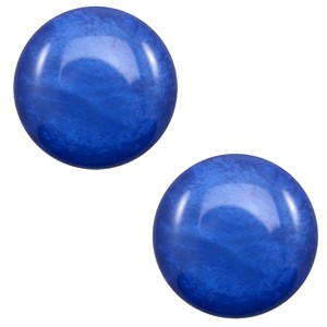 Polaris cabochon 12mm shiny cobalt blue