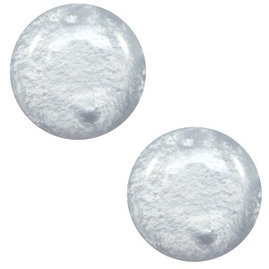 Polaris cabochon 12mm shiny pewter grey