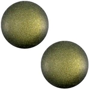 Polaris cabochon 12mm soft tone matt army green
