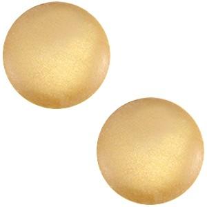 Polaris cabochon 12mm soft tone matt golden yellow