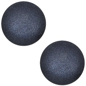 Polaris cabochon 12mm soft tone matt montana blue