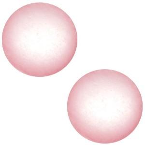 Polaris cabochon 12mm soft tone matt pink