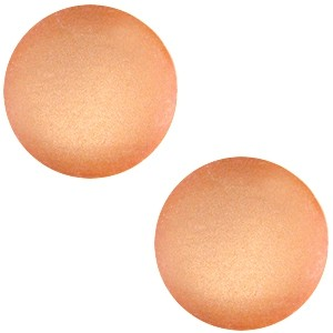 Polaris cabochon 12mm soft tone matt soft orange