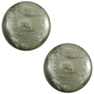 Polaris cabochon 7mm jais agave green
