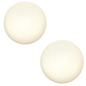 Polaris cabochon 7mm matt cloud cream white