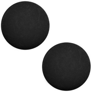 Polaris cabochon 7mm matt nero zwart