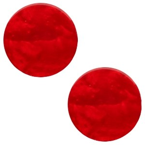 Polaris cabochon 7mm mosso shiny scarlet red