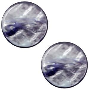 Polaris cabochon 7mm parelmoer montana blue