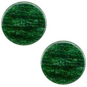 Polaris cabochon 7mm sparkle dust classic green