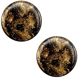 Polaris cabochon 7mm stardust dark brown