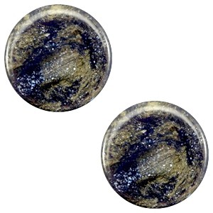 Polaris cabochon 7mm stardust midnight blue