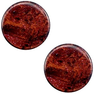 Polaris cabochon 7mm stardust port royale red