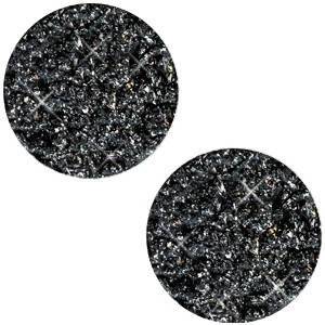 Polaris cabochon plat 12mm goldstein black