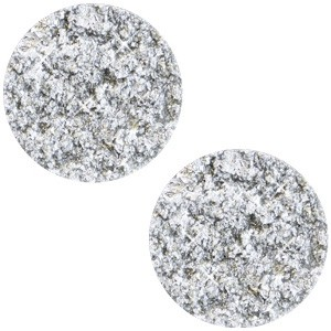 Polaris cabochon plat 12mm goldstein white