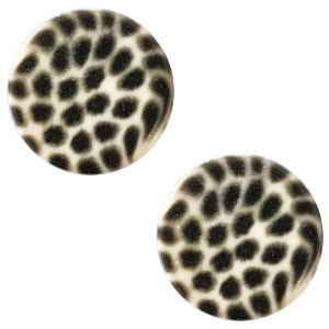 Polaris elements cabochon plat 12mm leopard silk beige