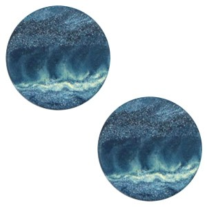 Polaris elements cabochon plat 12mm stone look evening blue