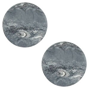 Polaris elements cabochon plat 12mm stone look ocean grey