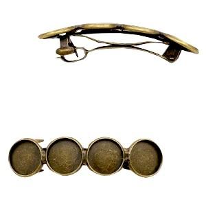 Polaris haarspeld brons 54x14mm (voor 4 cabochons 12mm)