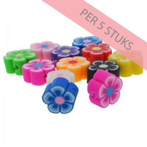 polymeer-kralen-bloem-multicolour-9mm-per-5-stuks