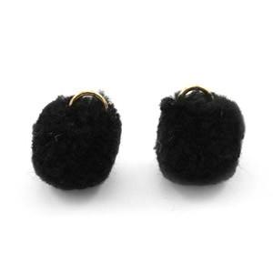 Pompom bedel met oog 15mm black