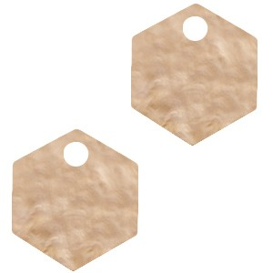 resin-hangers-hexagon-light-semolina-beige-14mm-per-stuk