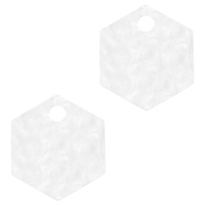 resin-hangers-hexagon-white-14mm-per-stuk