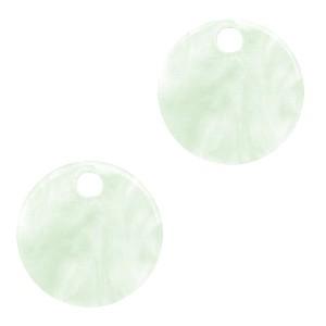 Resin hangers rond bit of green 12mm (per stuk)