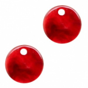 Resin hangers rond cherry red 12mm (per stuk)