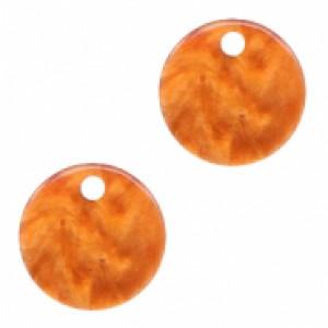 Resin hangers rond Flame Orange 12mm (per stuk)