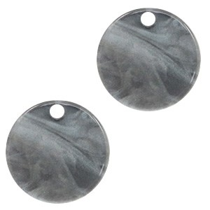 Resin hangers rond grey 12mm (per stuk)