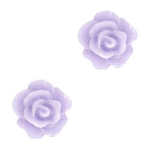 Roosjes kralen 10mm lila grey