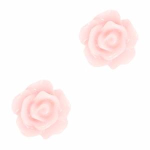 Roosjes kralen 10mm peachskin rose