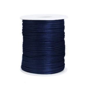 Satijn koord rond 1.5mm dark blue (per meter)