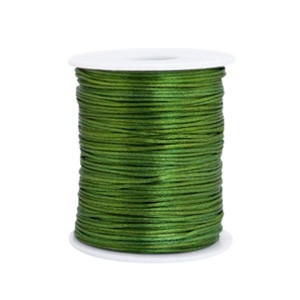 Satijn koord rond 1.5mm dark green (per meter)