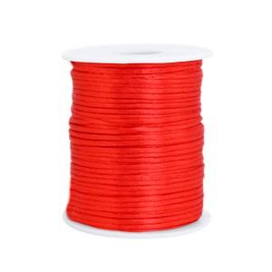 Satijn koord rond 1.5mm flame scarlet red (per meter)