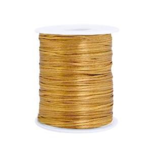 Satijn koord rond 1.5mm gold (per meter)