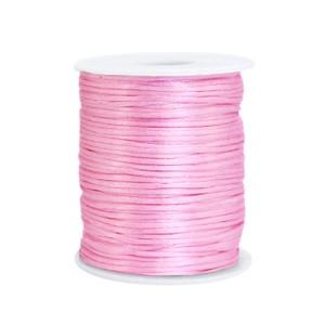 Satijn koord rond 1.5mm light pink (per meter)