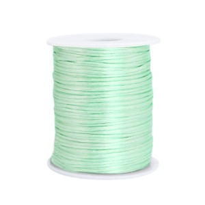 Satijn koord rond 1.5mm neo mint green (per meter)