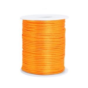 Satijn koord rond 1.5mm orange (per meter)